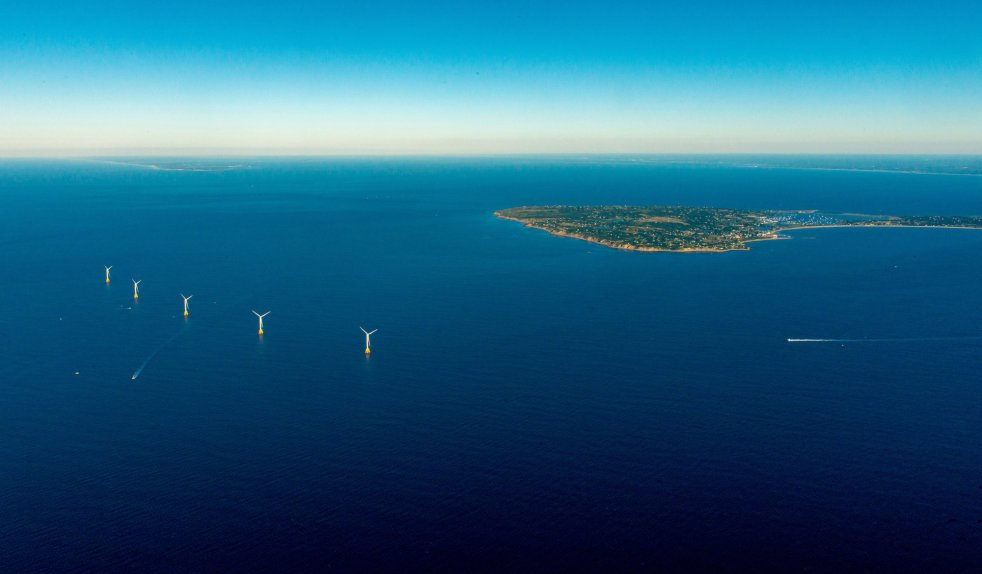 Block Island Wind Farm in Rhode Island, an offshore wind farm