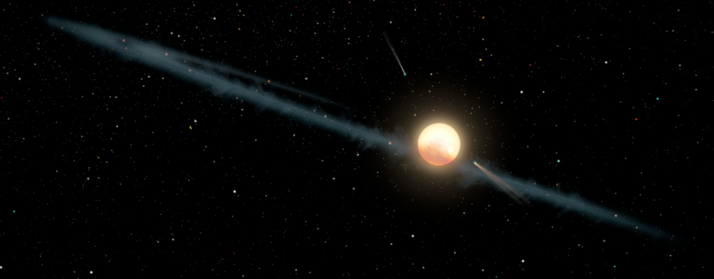 A ring of dust circles Tabby's Star, or Boyajian's Star.